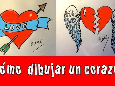 Cómo dibujar un corazón con flecha y con alas