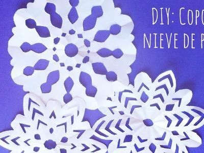 Cómo hacer copos de nieve de papel  ❅ ❄ ❆ MUY FÁCIL  ❅ ❄ ❆