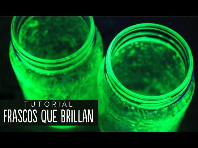 Cómo hacer frascos que brillan (fácil) - #RetoALiz ✎ Craftingeek