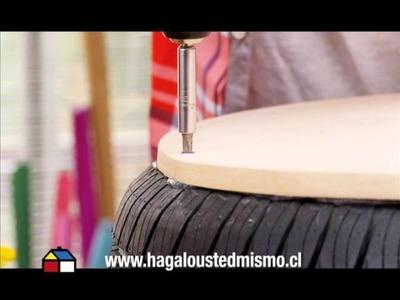 ¿Cómo hacer un pouf con neumáticos?