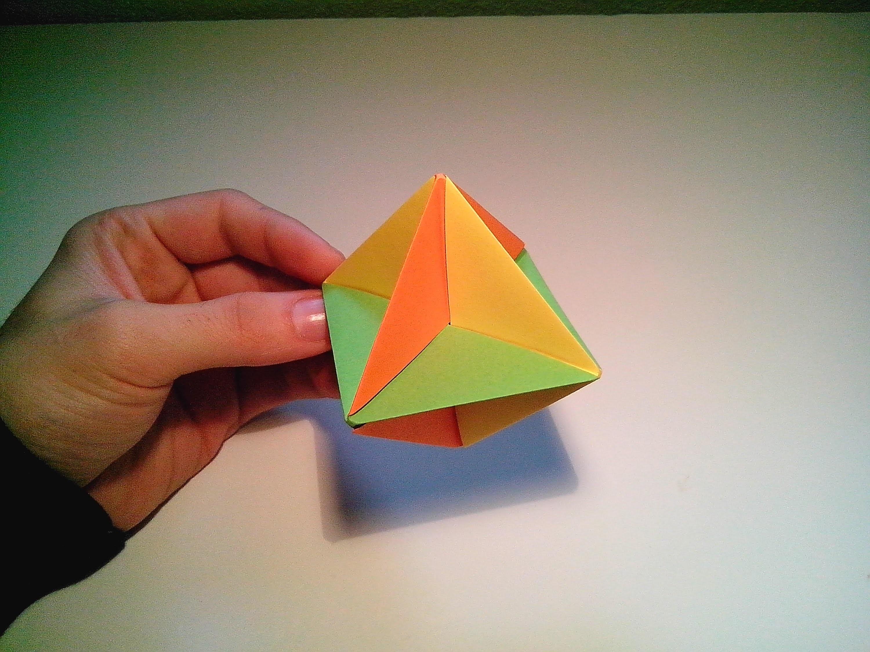 Como hacer una peonza modular de papel