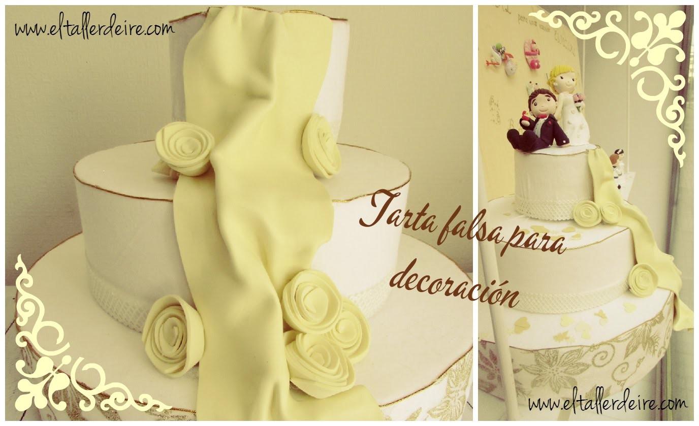 Cómo hacer una tarta falsa para decoraciones