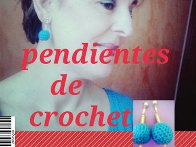 COMO HACER UNOS PENDIENTES DE CROCHET Y ZAMAK