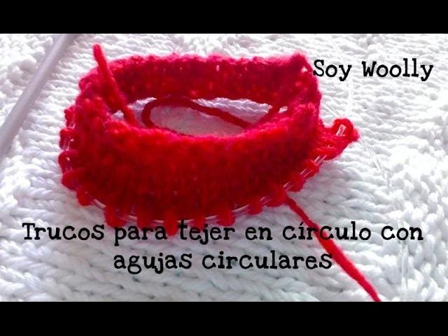 Cómo tejer en círculo con agujas circulares y algunos trucos: magic loop