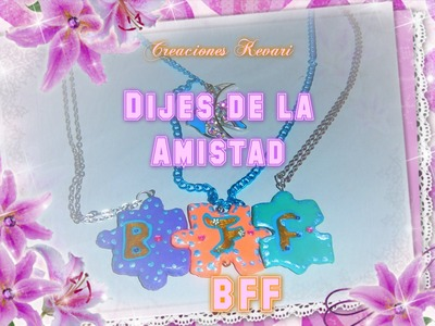 Dijes de la Amistad (codigo amistad violetta). Friendship Necklaces