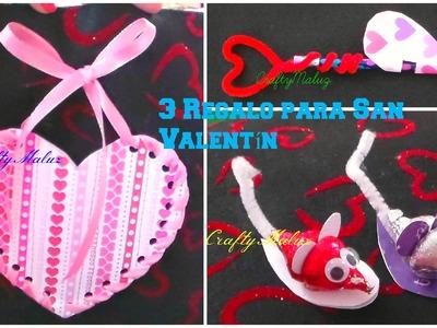 DIY♥ 3 REGALOS  FACILES PARA SAN VALENTIN ♥
