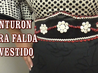 DIY CINTURÓN CORPIÑO PARA FALDA O VESTIDO DE FLAMENCA