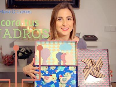 DIY: Cómo hacer marcos con cajas de zapatos - MARÍA G. LOMAS
