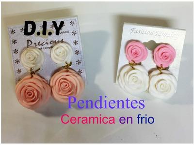 Flores De Ceramica en Frio: Pendientes. Aretes !