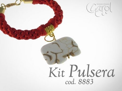 Kit 8883 Kit pulsera kumihimo elefante