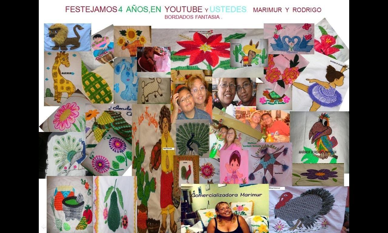 Marimur rifa aniversario 4  años fuimos los  pioneros en compartir bordado fantasia
