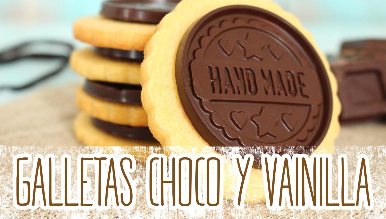 Receta: Galletas de vainilla con chocolate