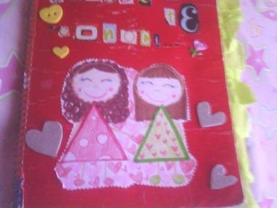 Smash book casero para mi amiga. (Avances) Isabel!!