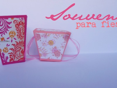 Souvenirs para fiestas Pt.1 || Paper Crafting ||