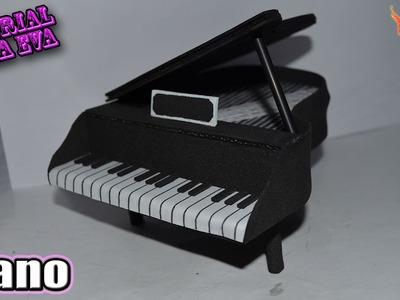 ♥ Tutorial: Piano de Goma Eva (Foamy) ♥