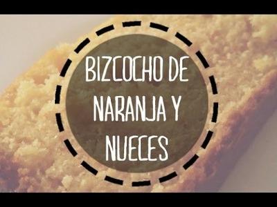 BIZCOCHO de naranja y nueces (panificadora) | #sonoronacocina