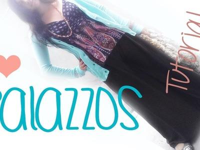 ♥ cómo hacer pantalones palazzo ☁ muy fácil!