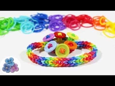 Como hacer Pulseras de Gomitas Inverted Fishtail sin Telar y botones  Rainbow Loom Pintura Facil