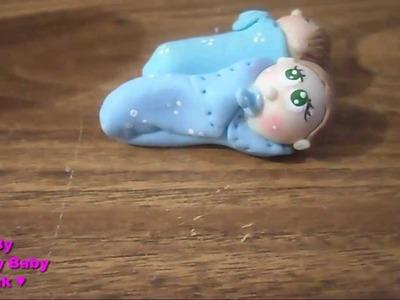 Como hacer un bebe de porcelana fria paso a paso