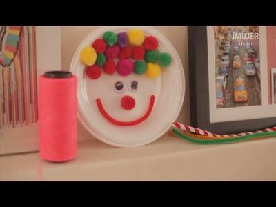 Cómo hacer un payaso con un plato desechable | manualidades para niños | @iMujerHogar