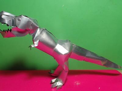 Como Hacer un Tiranosaurio Rex con Latas de aluminio Tutorial