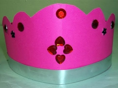 Cómo hacer una corona rosada