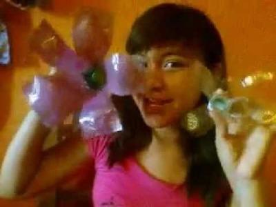 Como hacer una flor con botellas de plastico