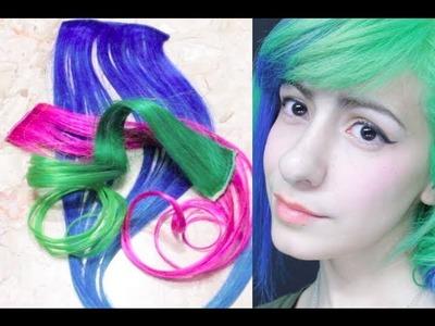 ➭ Como Pintar Extensiones De Colores + Como me pongo extensiones? ❀ - Miranda Ibañez