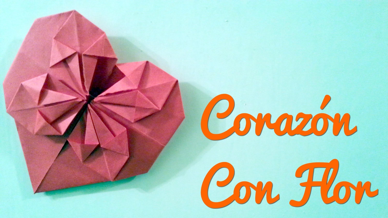Corazon con Flor | Manualidades para el 14 de febrero