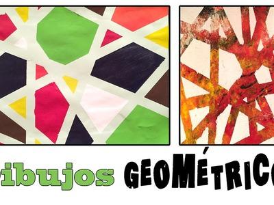 Cuadro abstracto geométrico : Dibujo para niños