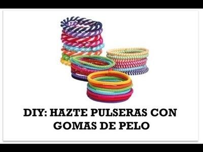 DIY pulseras con gomas de pelo