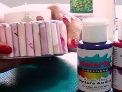 DIY; Rincón verde: Hacer porta velas con papel reciclado.