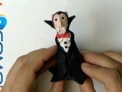 Drácula de plastilina para Halloween