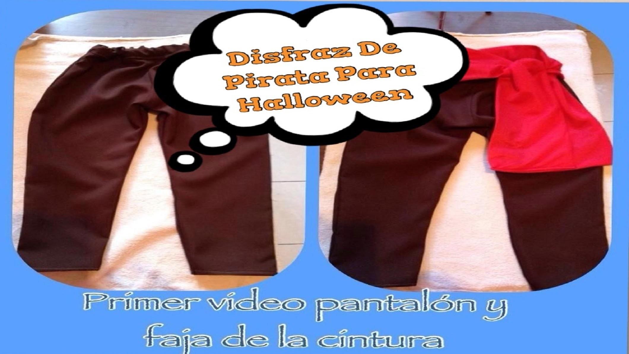 Elaborando Disfraz De Halloween (( Disfraz De Pirata )) - Pantalon y Faja De La Cintura -