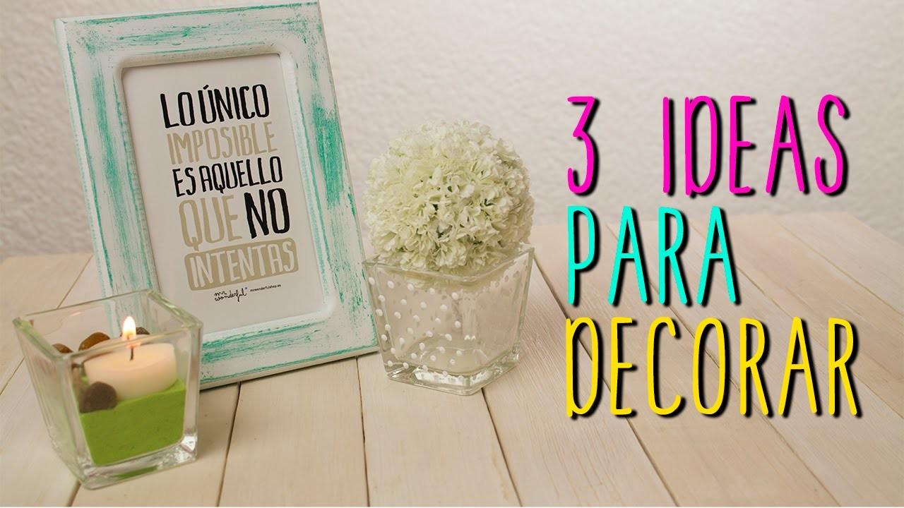Ideas para decorar tu cuarto - 3 DIY Estilo Vintage - Fácil