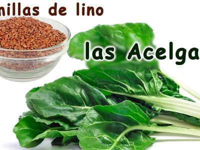 Las semillas de lino y las acelgas