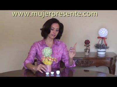 Manualidades con Beatriz Guajardo, Cómo hacer  topiarios