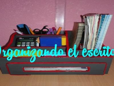 Organizador de escritorio para tus útiles