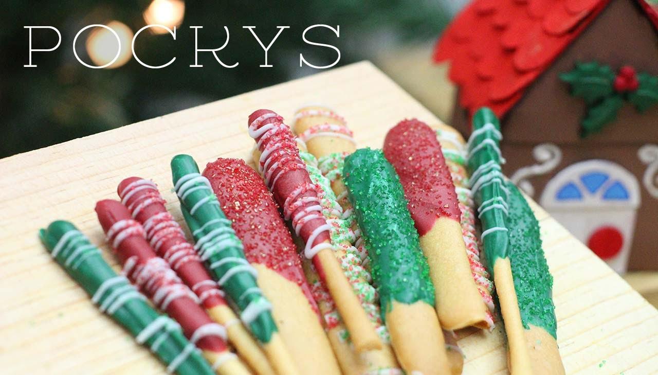 Pockys navideños deliciosos [receta]