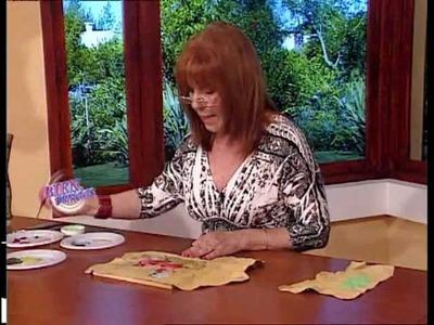 Adriana Dadamo - Bienvenidas TV - Flores sobre una Cartera de Cuero