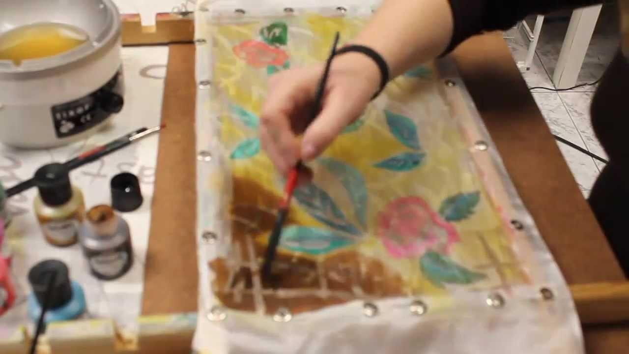 Batik sobre seda en Star Taller Creativo, vídeo 5