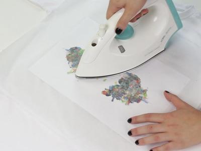 Cómo hacer camiseta estampada con pinturas de cera