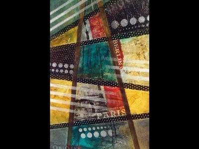 Como hacer un cuadro tipo poster con pinturas para seda