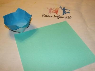 Cómo hacer un cuenco en Origami