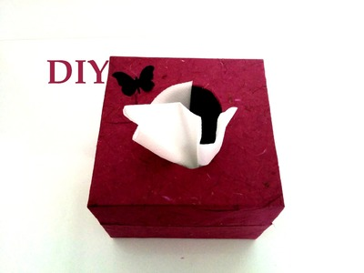 Como hacer un servilletero. Diy, manualidades.How to make a napkin
