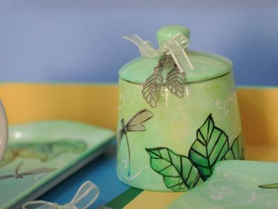 Como pintar tazas y platos de porcelana - Delia di Giorgio
