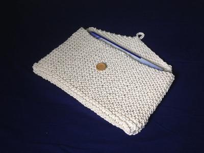 Cómo tejer con telar un portadocumentos (Tutorial DIY)