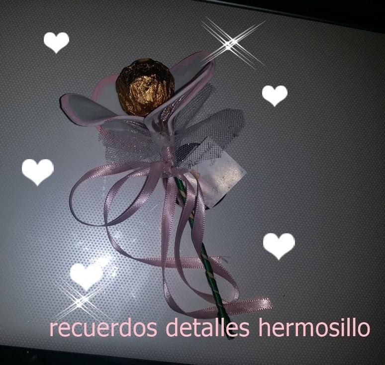DIY Como Hacer Flor de  de foamy y  chocolate para recuerdo de boda