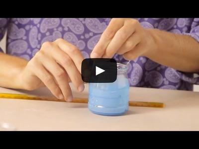 Portavelas con yogur de cristal - Manualidades Alimenta Sonrisas