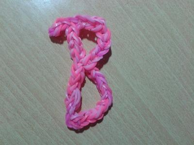 ♥ Tutorial: letra B hecha con gomitas (sin telar) ♥